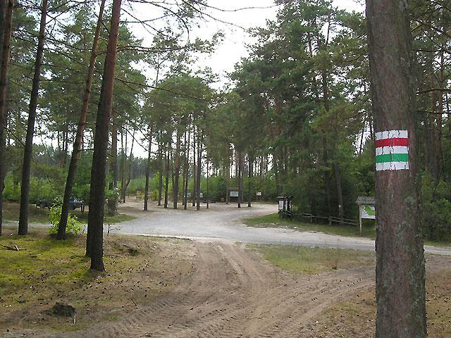 dojście do Rezerwatu Czartowe Pole