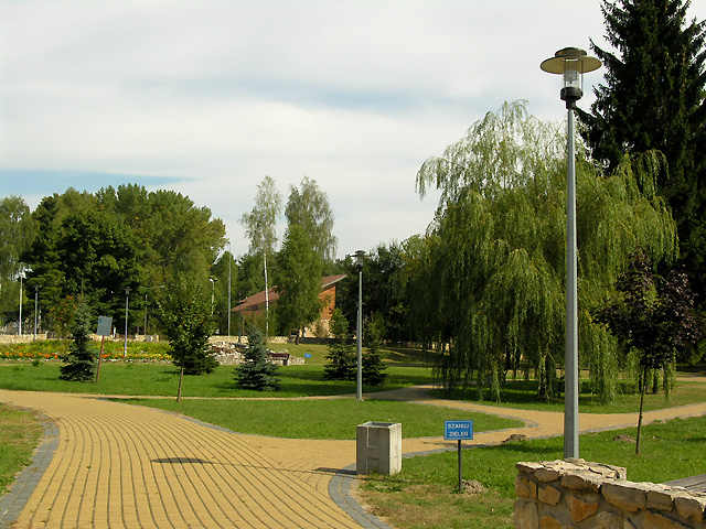 park w Suścu k. stacji PKP