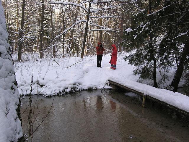 zimą na niebieskim szlaku Szumów