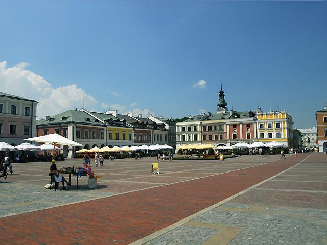 rynek starego miasta Zamość