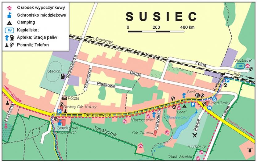 plan Suśca został wykonany przez KARTPOL w Lublinie