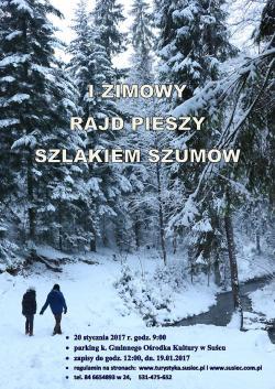 I Zimowy Rajd Pieszy Szlakiem Szumów 20.01.2017 r.